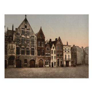 Carte Postale La bibliothèque, Bruges, Belgique