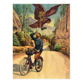 Carte Postale La bicyclette française Eagle de rétro kitsch