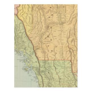 Carte Postale La Birmanie et les pays limitrophes