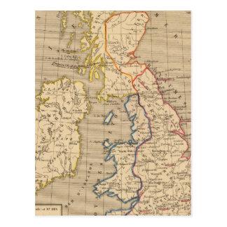 Carte Postale La Bretagne Saxonne anglo, Jésus-Christ de 600