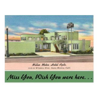 Carte Postale La Californie, appartements d'hôtel de moteur de
