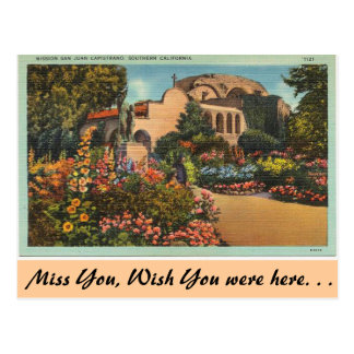 Carte Postale La Californie, mission San Juan Capistrano