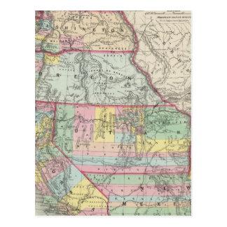 Carte Postale La Californie, Orégon, Washington, Utah, Nouveau