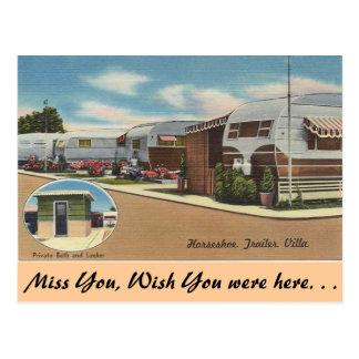 Carte Postale La Californie, villa en fer à cheval de remorque