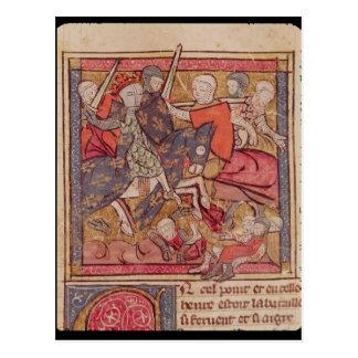 Carte Postale La capture de Ferdinand de compte du Portugal