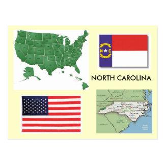 Carte Postale La Caroline du Nord, Etats-Unis