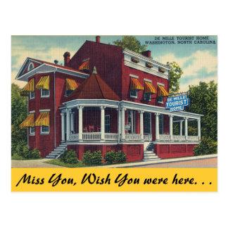 Carte Postale La Caroline du Nord, maison de touristes de De