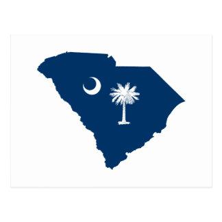 Carte Postale La Caroline du Sud dans bleu et blanc
