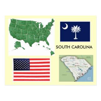 Carte Postale La Caroline du Sud, Etats-Unis