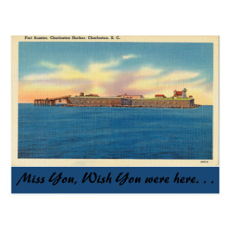 Carte Postale La Caroline du Sud, fort Sumter, Charleston