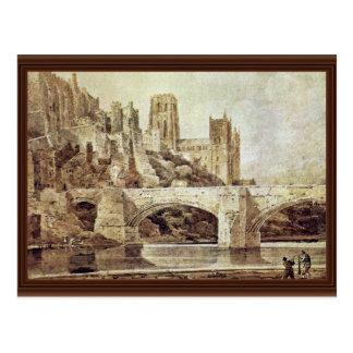 Carte Postale La cathédrale de Durham et le pont comme vu de