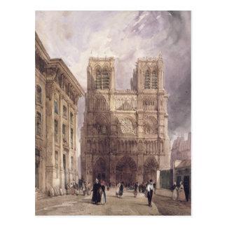 Carte Postale La cathédrale de Notre Dame, Paris, 1836
