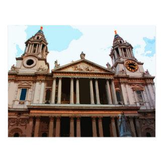Carte Postale La cathédrale de St Paul à Londres, R-U