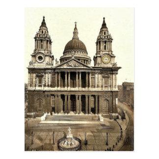 Carte Postale La cathédrale de St Paul, à l'ouest avant,