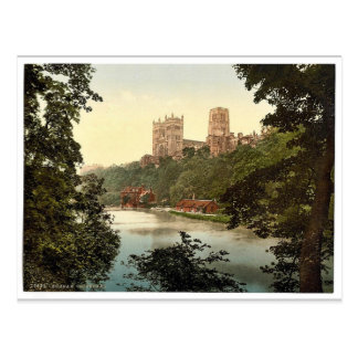 Carte Postale La cathédrale, Durham, Angleterre Photochrom rare