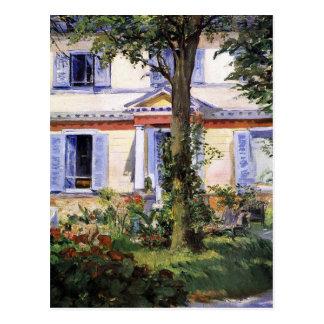 Carte Postale La Chambre chez Rueil par Edouard Manet
