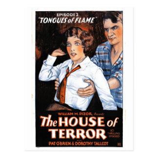 Carte Postale La Chambre de la terreur #2 - langues de flamme