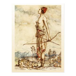 Carte Postale La chasseuse Diana