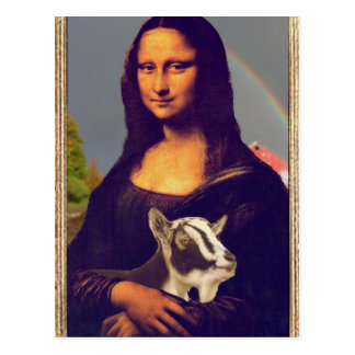 Carte Postale La chèvre de Mona Lisa