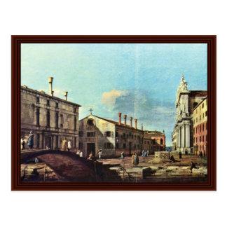 Carte Postale La Chiesa de l'IL Campo Dei Gesuiti E un Venezia