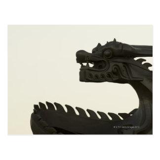 Carte Postale La Chine, scultpture traditionnel de dragon de