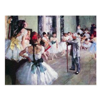 Carte Postale La classe de danse par Edgar Degas, art vintage de