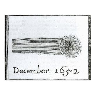 Carte Postale La comète de Charles, décembre 1652