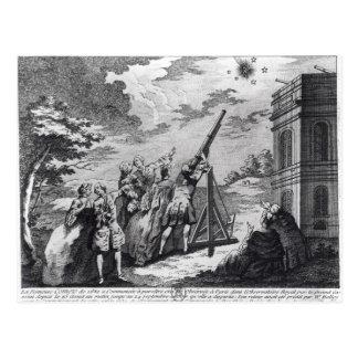 Carte Postale La comète de Halley observée en 1759 par Cassini
