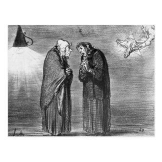 Carte Postale La comète, oh ! Madame Chaffarou de pauv de mA
