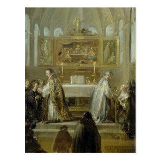 Carte Postale La communion, 1649-51