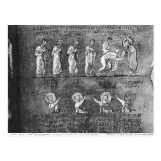 Carte Postale La communion de six apôtres