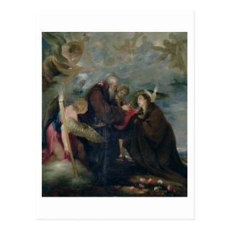 Carte Postale La communion du rose de St de Viterbe (la Vierge)