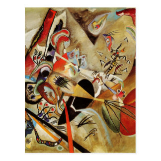 Carte Postale La composition abstraite de Kandinsky
