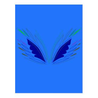 Carte Postale La conception s'envole l'ethno bleu