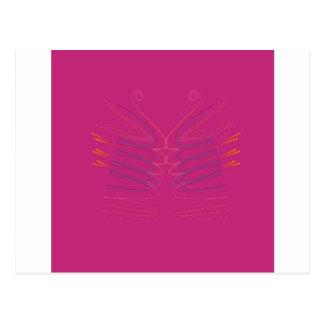 Carte Postale La conception s'envole l'ethno rose