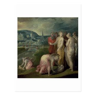 Carte Postale La conclusion de Moïse (huile sur la toile)