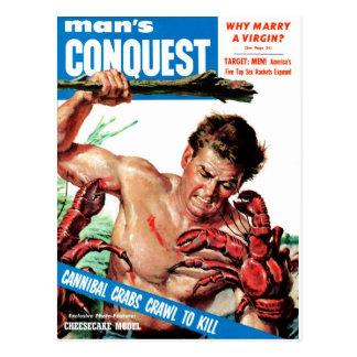 Carte Postale La conquête de l'homme - crabes de cannibale