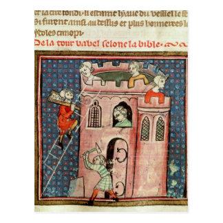 Carte Postale La construction de la tour de Babel