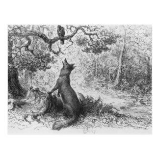 Carte Postale La corneille et le Fox