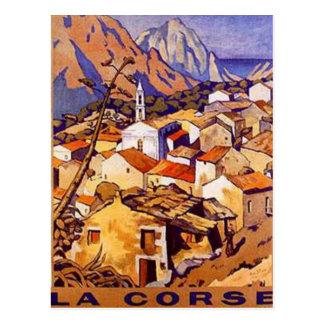 Carte Postale La Corse vintage, France -