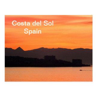 Carte Postale La Costa del Sol, Espagne