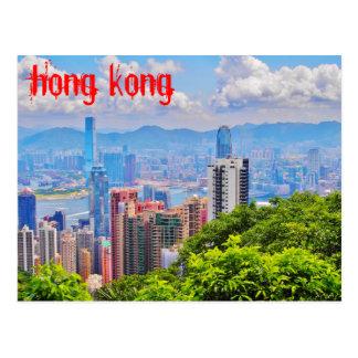Carte postale - la crête de Victoria à Hong Kong