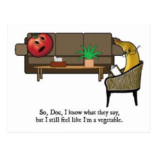 Carte Postale La crise d'identité, tomate voit le psychiatre