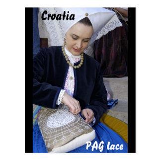 Carte Postale La Croatie, dentelle de PAG