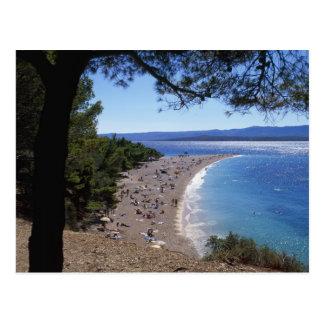 Carte Postale La Croatie, île de Brac, Bol, plage d'or de cap