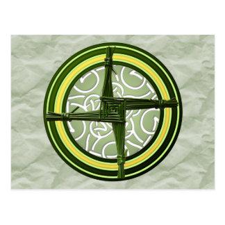 Carte Postale La croix de Brigid vert sur le vert