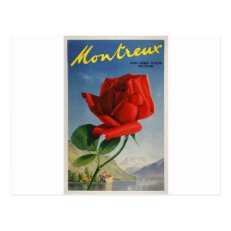 Carte Postale La Cru-Voyage-Affiche-Montreux-Suisse