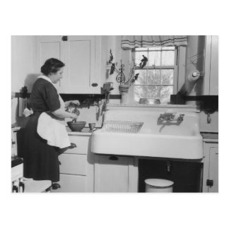 Carte Postale La cuisine de la grand-maman - cru