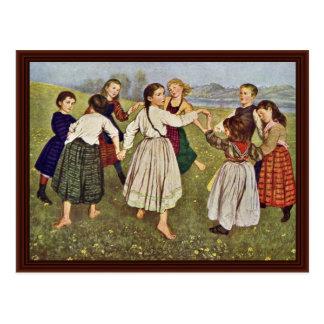 Carte Postale La danse ronde d'enfant par Thoma Hans