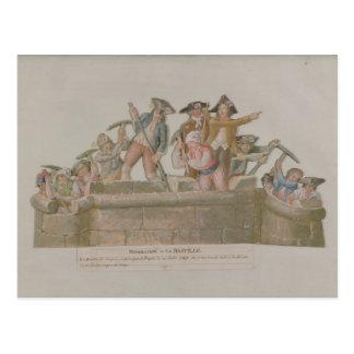 Carte Postale La démolition de la bastille, juillet 1789